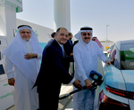 Aramco, Air Products unveil Saudi Arabia's first hydrogen fuelling station