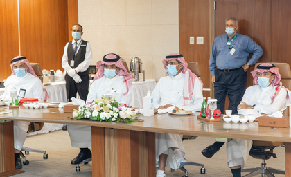 Saudi minister of industry and mineral resources visits Sadara Chemical Complex in Jubail Industrial City