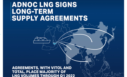 ADNOC LNG inks long-term LNG supply agreements with Vitol, Total