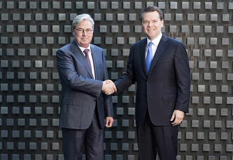 Hariolf Kottmann (left), CEO, Clariant, and Peter R Huntsman, president and CEO, Huntsman.