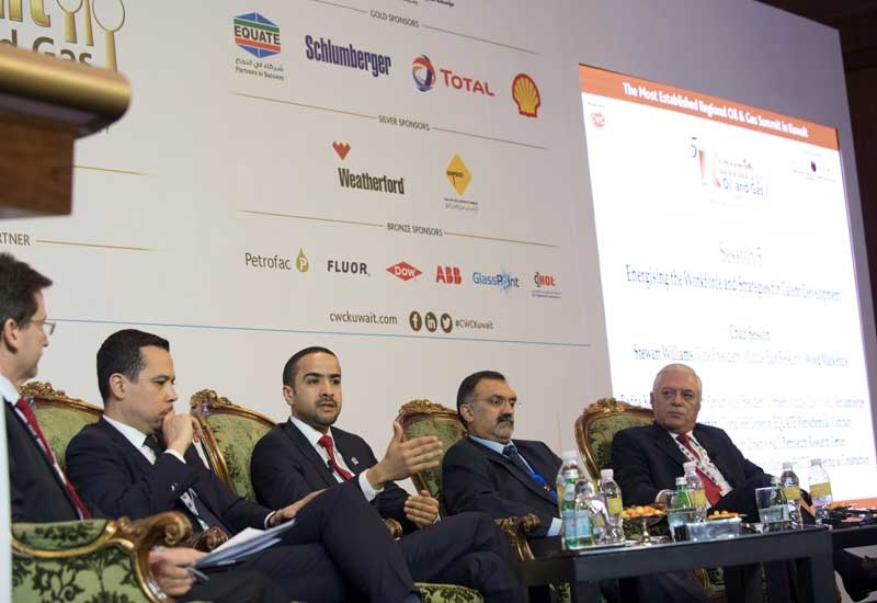 EQUATEs global human resources director Mohammad Al-Sharhan (third from right) speaks at the 5th Kuwait Oil & Gas Summit.