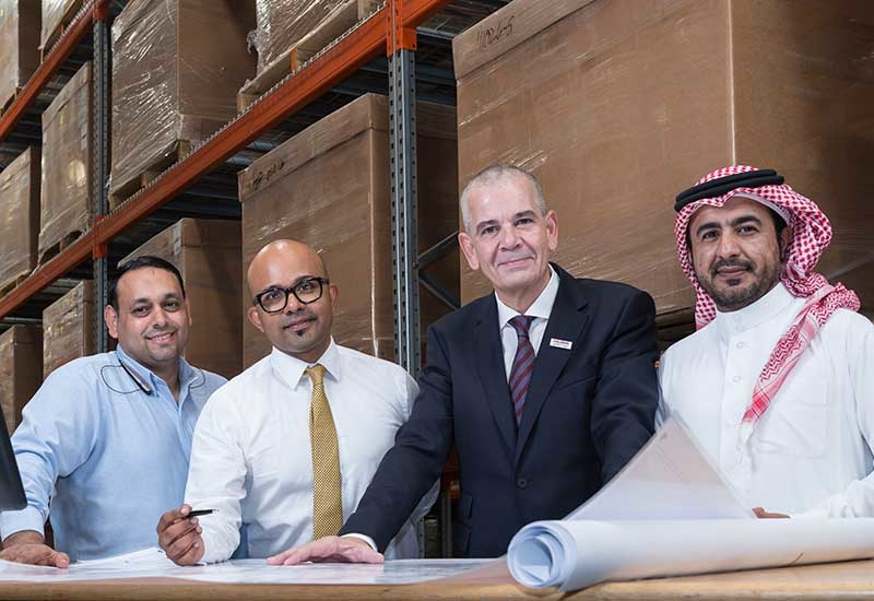 Left to right: Hani Fawzi, site manager, Babar Ahmad, sales and marketing manager, Oliver Klingbeil, managing director, Mohammed Al-Hammed, HR manager, S.A.TALKE.