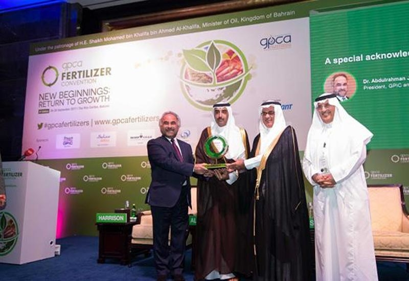 The three-day GPCA fertiliser convention was held under the patronage of Shaikh Mohamed bin Khalifa bin Ahmed Al-Khalifa, minister of oil, Bahrain, with the theme  'New beginnings: Return to Growth'.