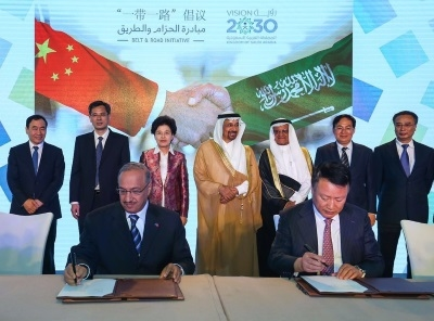 The official signing of the deal. Picture courtesy of SABIC.