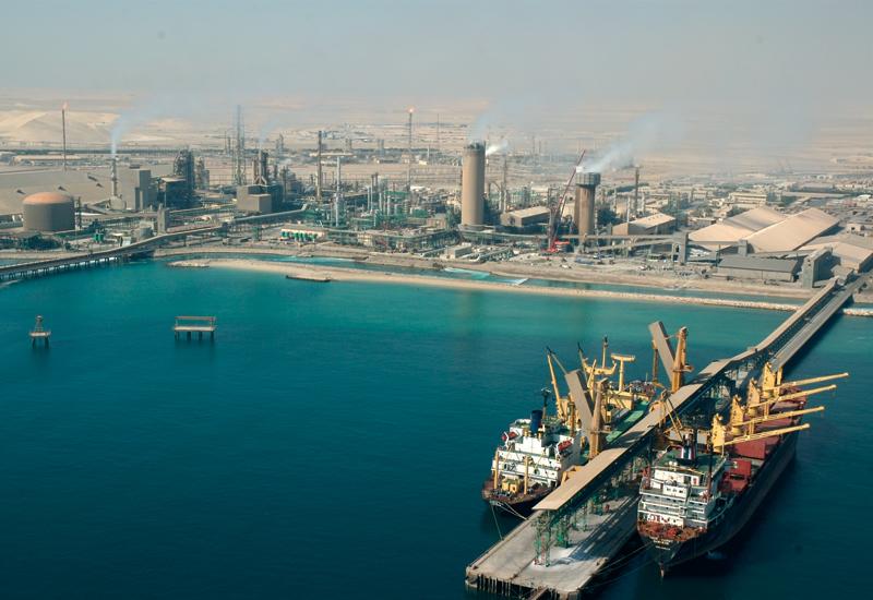 QAFCO's bustling fertiliser export facilities.