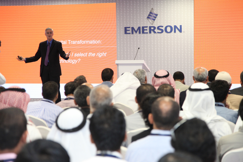 Mike Train, president of Emerson Electric, inaugurates the Technology Conference & Exhibition.