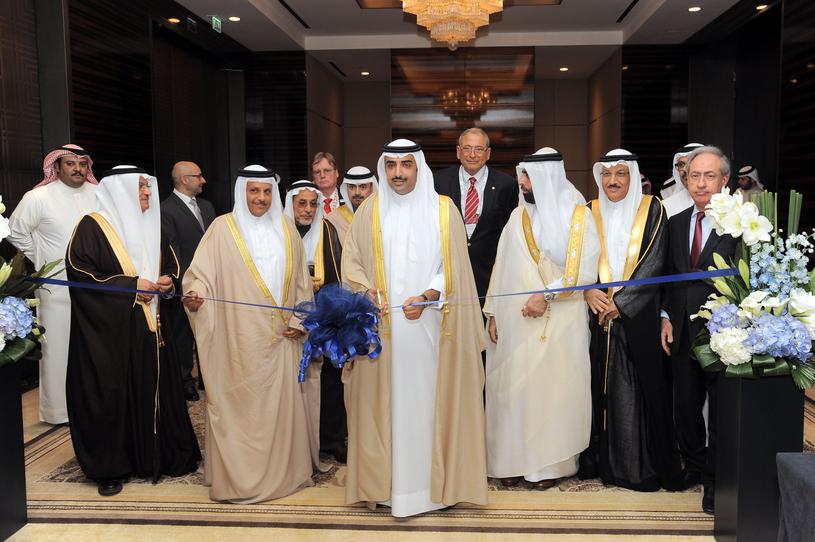 Shaikh Mohammed bin Khalifa Al Khalifa, minister of oil, Bahrain, opens the BBTC MENA and ME-CAT 2017 conferences.