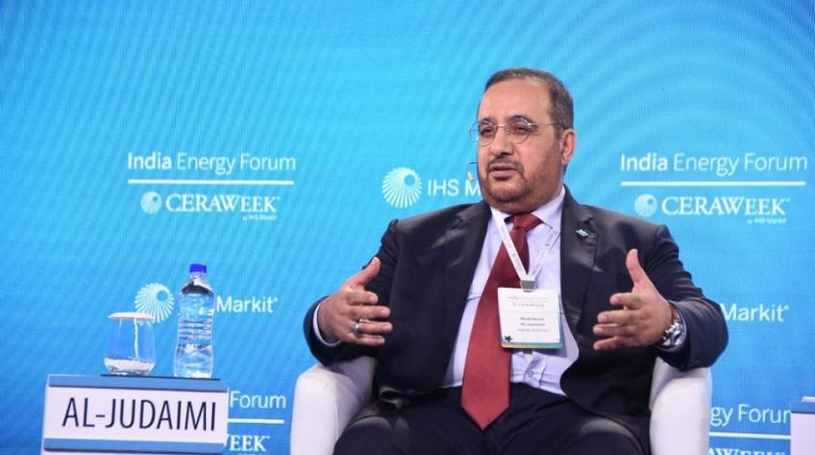 Saudi Aramco senior vice president of downstream Abdulaziz M Al-Judaimi participates in a panel discussion titled 'Outlook for Refining and Petrochemicals'.