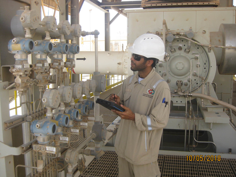 Oman Gas uses Bentley's AssetWise Asset Reliability solution with hand-held devices to enable digital workflows and improve reliability and performance of its operations.