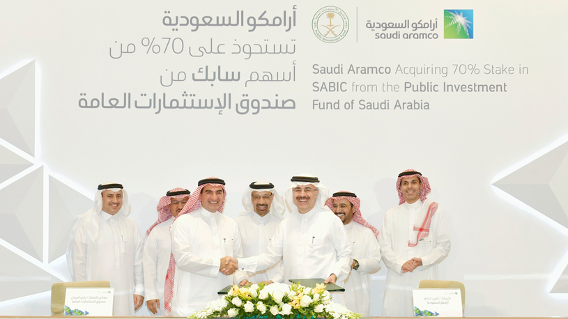 In March this year, Saudi Aramco signed a share purchase agreement to acquire a 70% majority stake in SABIC from the Public Investment Fund of Saudi Arabia, in a private transaction for $69.1bn.