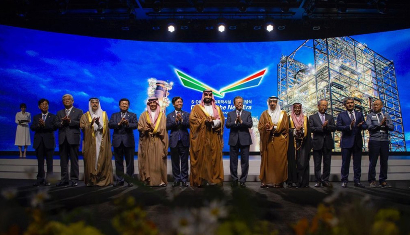 His Royal Highness Prince Mohammed bin Salman Al-Saud, Crown Prince, Deputy Prime Minister, Minister of Defence, Saudi Arabia, and Moon Jae-in, president of the Republic of Korea, inagurate S-Oil's residue upgrading complex and olefin downstream complex. (Image courtesy: Saudi Aramco Twitter handle)