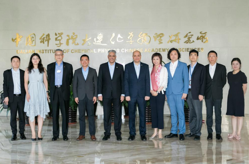 Teams of SABIC and Dalian Institute of Chemical Physics, when SABIC team visited the institute. (Image courtesy: SABIC Twitter handle)