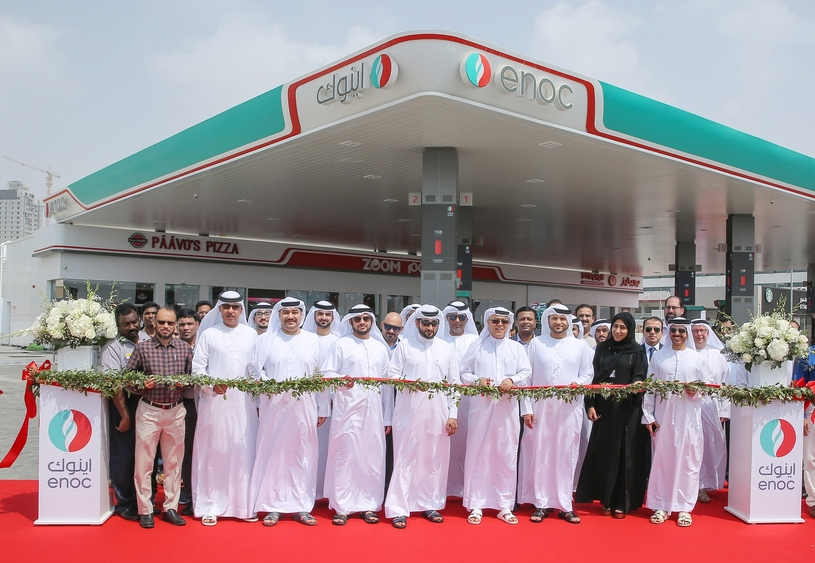 Opening ceremony of ENOC's ninth station in Fujairah.