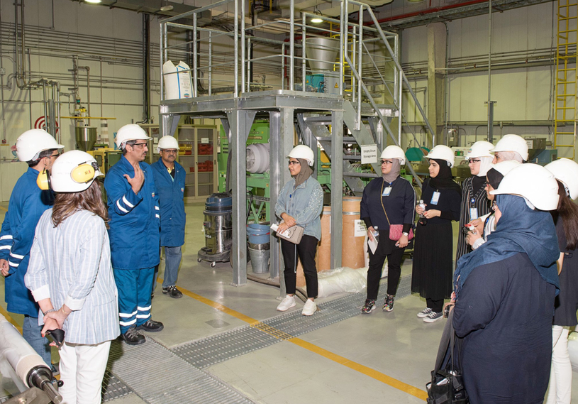Students from Kuwait University, College of Engineering, visit the site of EQUATE Petrochemical Company. (Image coustesy: EQUATE Petrochemical Company Twitter handle)