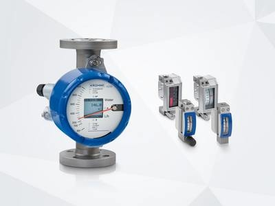New variable area flowmeter options from KROHNE for low flow measurement.