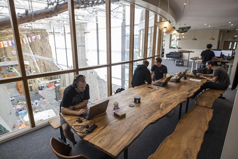 New Cyberhawk corporate headquarters based in the Edinburgh International Climbing Arena.