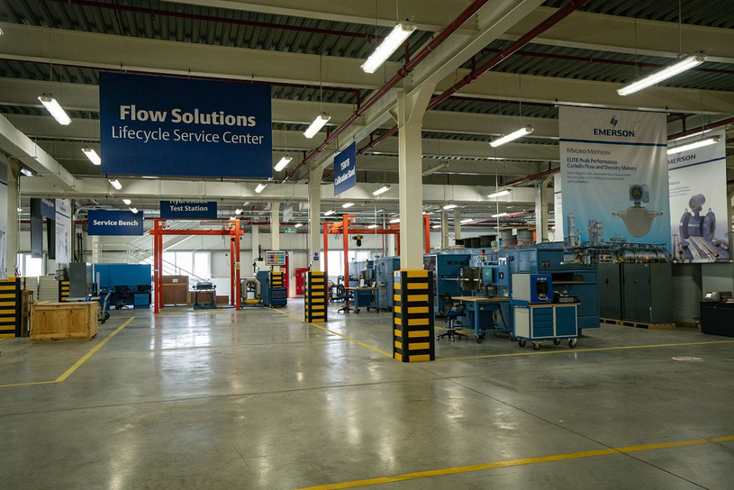 Emerson's Flow Lifecycle Service Center based in Dubai.