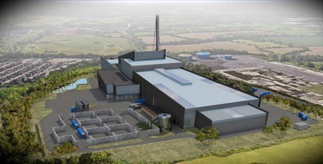 Artist's impression of Avonmouth Resource Recovery Centre.