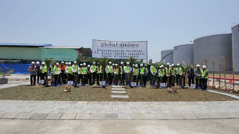 Groundbreaking ceremony held at the site for GAC's third tertiary amines plant in Gresik.