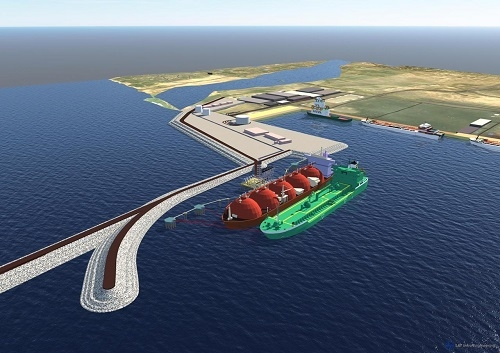 AG&P breaks ground on its LNG import facility at Karaikal Port, Puducherry, India.