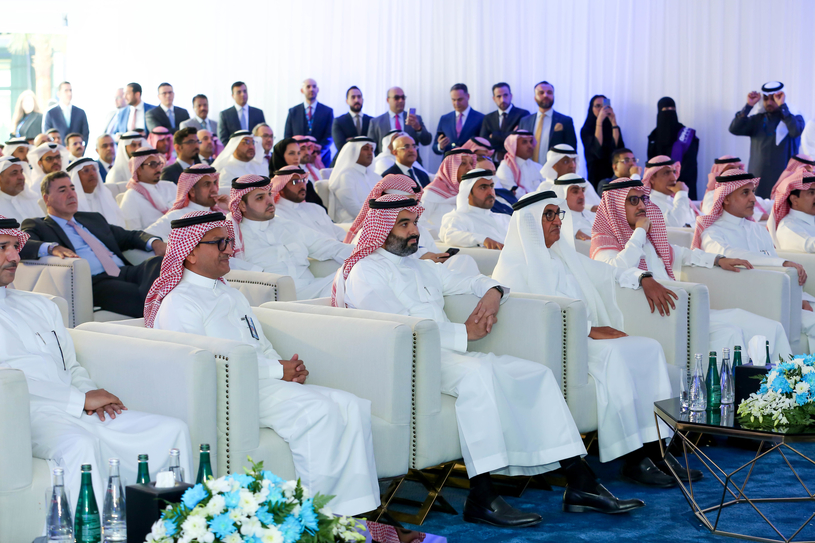 The opening of the KPMG Insights Center was attended by a range of public officials and top executives from leading international and Saudi firms in the private sector.
