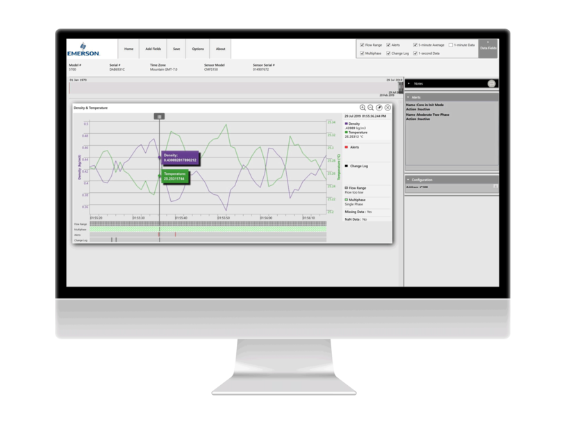 ProcessViz software provides an easy-to-use graphical view of data from Micro Motion flow meters.