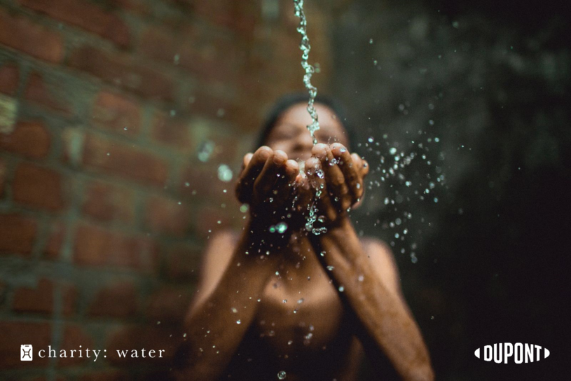 DuPont is charity: water's first brand partner in the water sector, with plans for additional collaboration toward the goal of increasing access to clean, safe water worldwide.