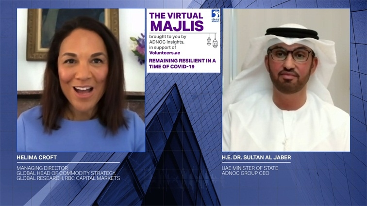 Speaking on ADNOC's 'Virtual Majlis'  with Helima Croft, managing director and global head of commodity strategy at RBC Capital Markets, Dr Al Jaber said the world is in unchartered territory and right now, no one is in a position to predict exactly what the global economic recovery will look like.