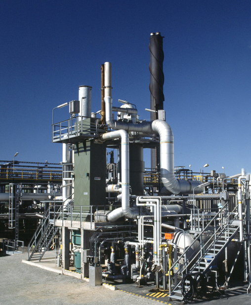 A WSA plant such as this treat tail gas from the Claus unit achieves more than 99.9% sulphur removal efficiency (SRE).